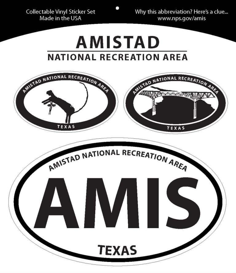 Amistad Oval Decal Set