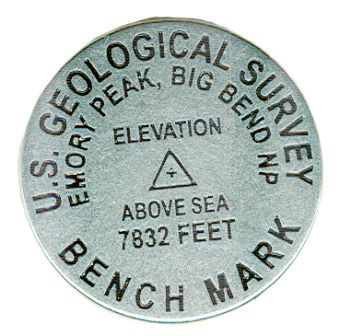 Emory Peak Bench Mark Token Magnet