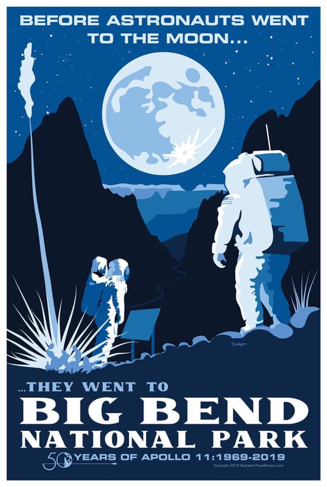 Big Bend Apollo 50th Anniversary Poster