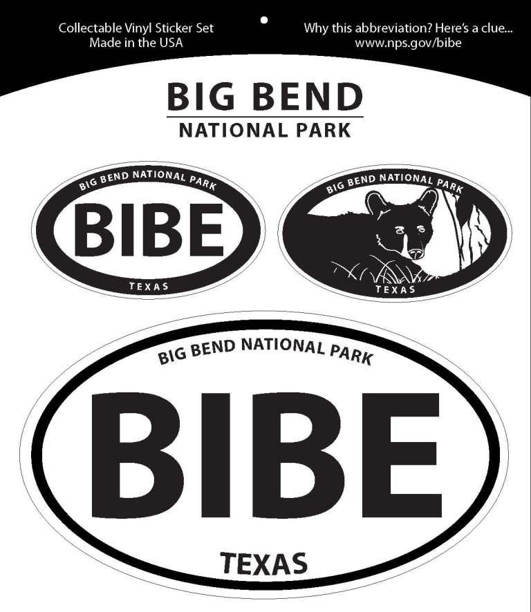 Big Bend Oval Decal set