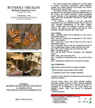 Big Bend Butterfly Checklist