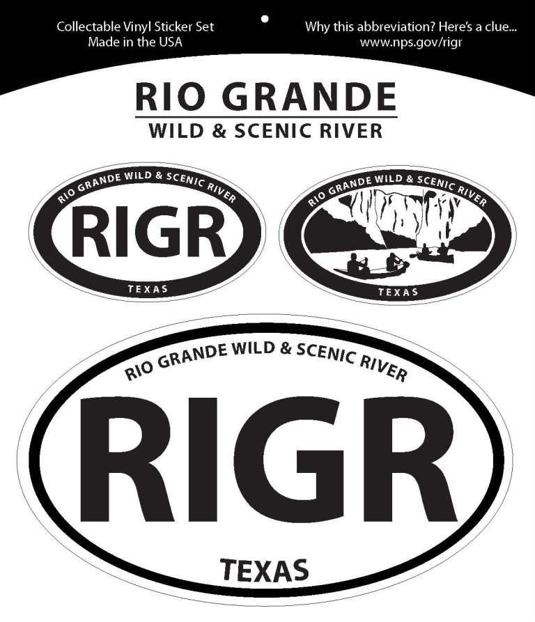 Rio Grande Wild & Scenic River Oval Decal Set