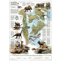 Dinosaurs of North America Map/Poster